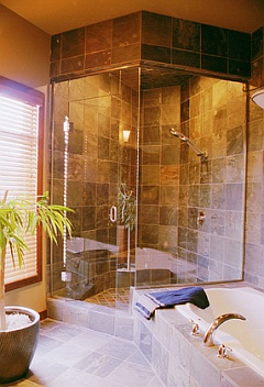 Custom Ceramic Tile Shower Installation